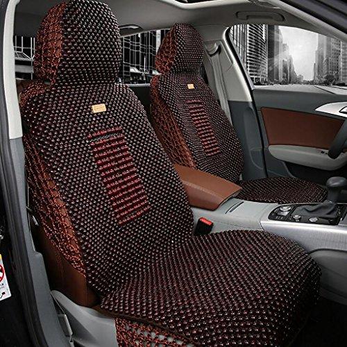 Sommer Auto Kissen Holz Perle Auto Sitzbezug Breathable Massage 5 Sitze (2 Farben erhältlich) ( Farbe : B ) (Perlen Sitz-kissen)