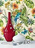 NEWROOM fiore carta da parati colorato carta Floral Natur Struktur bella ottica 3D moderna e nobile design moderno e nobile ottica 3D , inclusivi Guida alla tappezzeria