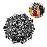 Ombrelle mariage en coton avec dentelles parasol parapluie décoration de mariage mariée parapluie Fait à la main romantique de Style occidental mariage dentelle parasol mariage parasol dentelle