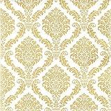 Home Fashion Cocktail Serviette Elegant Gold 25x 25cm, Golden, One size