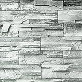 MYAMIA 10M Rustikale Graue Ziegel Selbstklebende Tapete Home Wohnzimmer Dekoration Wandaufkleber Rolle