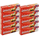 Zipouch Press-N-Loc (Small) Zipper Lock Bags (Pack Of 10 X 10 Bags = Total 100 Bags) Microwave & Freezer Safe, Retains Freshness Longer