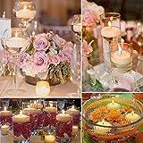 treasure-house 20PCS/Pack Schwimmkerzen Teelichter für Badewanne, Pool, Teich, Hochzeit - Flammenlose Schwimmende Kerzen