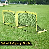 PodiuMax Pop Up Football Goal, Set of 2, Flash Set up Football Goal Posts & Carry Bag for Garden, Perfect for & Kids & Adult Training, Practice or Scrimmage Game