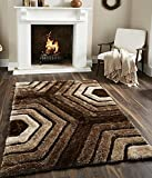 #5: Carpets(Innovative Edge Designer Shaggy Fur Abstract Polyester Carpet-3ft x5 ft)