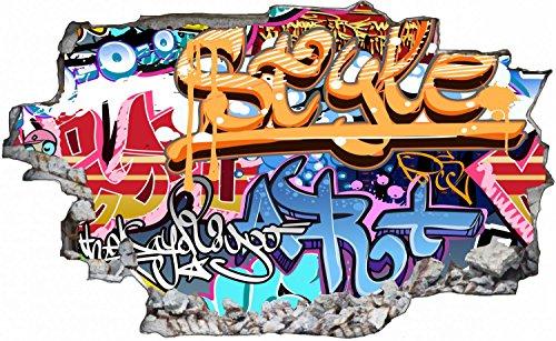 Graffiti Kunst Abstrakt Wandtattoo Wandsticker Wandaufkleber C0487 Größe 60 cm x 90 cm