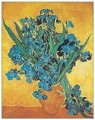 Idea Regalo - ArtPlaza AS10147 Pannello Decorativo, Iris-(Van Gogh), Legno, Multicolore, 31 x 1.8 x 39 cm