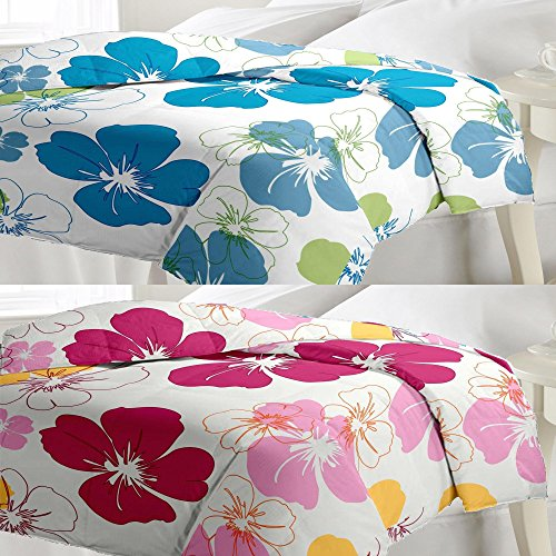 eCraftIndia Set of Floral Design Single Bed Reversible AC Blanket