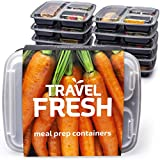 [10er Pack] Premium-3-Fach Meal Prep Container Set. Spülmaschine, Mikrowelle, Gefrierschrank Safe. Frischhaltedosen Bento Box Tupperware Set mit Deckel. 100% BPA-Frei.