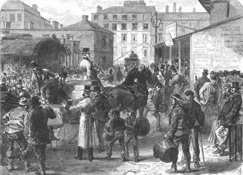Politik: die Allgemeine Wahl: Stimmen, antiker Druck, 1868