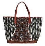 Cavalli - Multicolor Brown Snakeprint Shopping Tote Bag