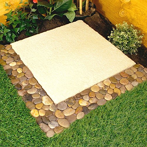 Parkland Pack of 4 Pebble Border Stone Garden Plant Lawn Edging Strips Wall Tile Bathroom by Parkland