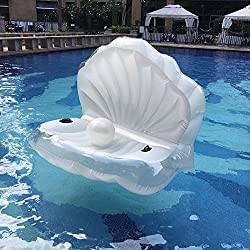 Piscina gigante Shell manejable inflable flotador juguete balsa sirena mar Shell piscina inflable flotador