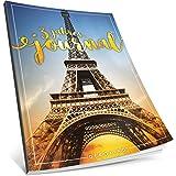 Dékokind® 3 Jahres Journal: Ca. A4-Format, 190+ Seiten, Vintage Softcover • Dicker Jahreskalender, Tagebuch für Erwachsene, Kalenderbuch • ArtNr. 08 Paris • Ideal als Geschenk