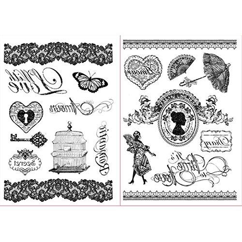 Stamperia CONF. 2Blätter Transfer with Love & Amour-Druckerei dftr029 (Bild-transfer-gel)