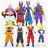 Dragon Ball - Goku - set 8- figuras-con bolsa de plastica- 15cm