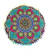 Vovotrade I nuovi cuscini indiani del pavimento di Mandala appoggiano i cuscini rotondi della cassa dei cuscini dell'ammortizzatore della Boemia (H)