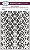Creative Expressions Herz Scrolls Prägeschablone, 18x 13,4x 0,4cm