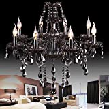 Rauchgrau Kristallleuchter Beleuchtung romantisches Schlafzimmer Wohnzimmerlampe Restaurant Kronleuchter Lampe kreative Kunst