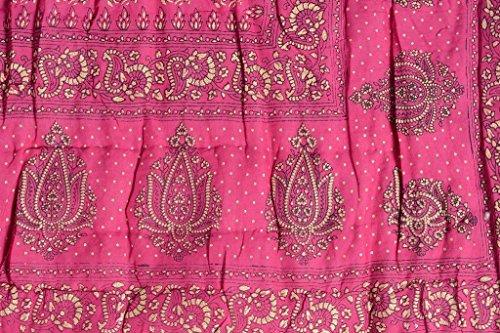 SVT Set of 2 pink color Single bed traditional Jaipuri cotton Razai/ Rajai/ Quilt with Golden Floral Print