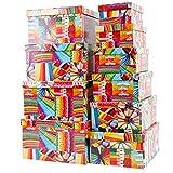 Markenlos Aufbewahrungsboxen/Schachteln Design Buntstifte im 10er Set mit Deckel