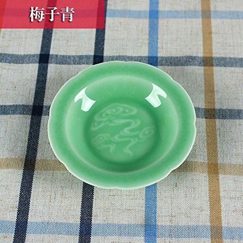 Celadon-sauce (YUWANW Kreative Keramik Kleine Gerichte Home Longquan Celadon Geschirr Yun Feng Aus Der Schüssel Mit Der Sauce Dish Hotel Swing - Aromatisiert Alben, Pflaume Blau)