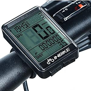 Wiiguda@ INBIKE Ordenador portátil a Prueba de Agua de la Bici Inalámbrico,Multifuncional Impermeable Medidor de Bicicleta ara el Seguimiento de Distancia, Velocidad, Temperatura, etc.