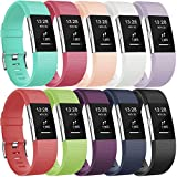 Gogoings Fitbit Charge 2 Armband Original Weiches Silikon Band Verstellbares Ersatzarmband Sport Accessories Wristband Fitnessband Uhrenarmband für Fitbit Charge2 Armband Damen Herren Klein