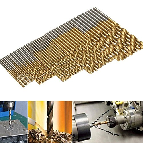 Preisvergleich Produktbild GS 50Mini Twist Bohrer Set HSS High Stahl Titanium Beschichtete Bohrer Holz Power Tool 1/1,5/2/2,5/3mm für Metall