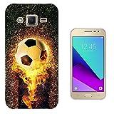 002421 - Fire Flame Ball Football Design Samsung Galaxy J2