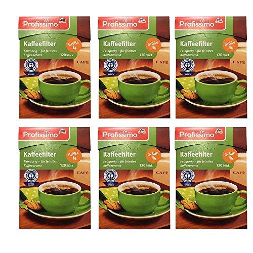 Profissimo Kaffeefilter Gr. 4, 6er Pack (6 x 120 Stk Box)