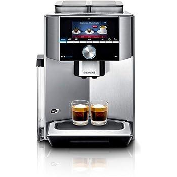 Siemens TI909701HC EQ.9 s900 Connect Kaffeevollautomat (1500 Watt, 2 Bohnenbehälter, vollautomatische Dampfreinigung, Baristamodus, Home Connect, iAroma) edelstahl