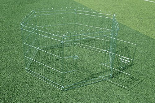 Kaninchenzaun Kaninchennetz Freigehege Welpenauslauf rabbit fence verzinkt 6tlg.