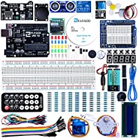 ‏‪ELEGOO UNO Project Super Starter Kit with Tutorial, UNO R3 Controller Board, LCD1602, Servo, Stepper Motor, Relay etc. for Arduino Projects‬‏