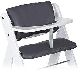 Hauck - 2-tlg. Deluxe Sitzkissen für Alpha Hochstuhl - Sitzpolster/Sitzauflage / Sitzverkleinerer/Hochstuhlauflage - Grau/Beige