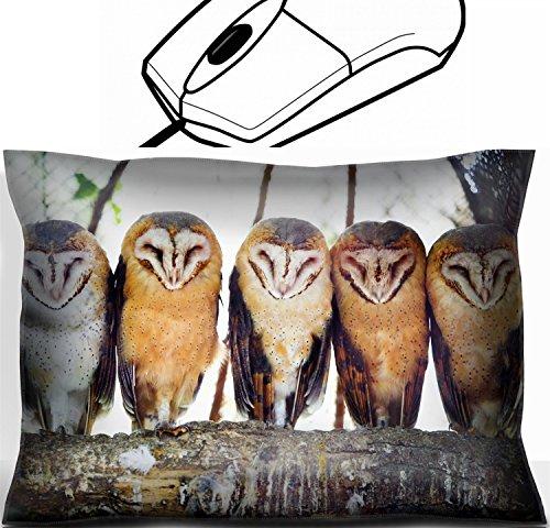 MSD 36408772 Handgelenkstütze, Design Maus mit 5 Eulen, mit charakteristischen herzförmigen Gesichtern auf einem Ast im Zoo