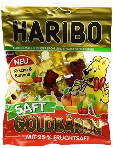 Haribo Saft Goldbären, Caramelle Gommose, Orsetti, alla Frutta, Sacchetto da 175g