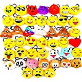 JZK 45 x 5cm Mini Emoji Plüsch Schlüsselanhänger Tasche Anhänger, Mitgebsel Geschenk Gastgeschenk für Kinder Party Geburtstag Party