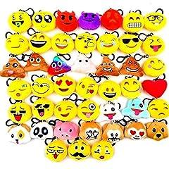Idea Regalo - JZK 45 Piccoli giocattoli peluche 5CM mini emoji portachiavi emoticon whatsapp regalo Natale pensierino compleanno bomboniera festa bambini adulti