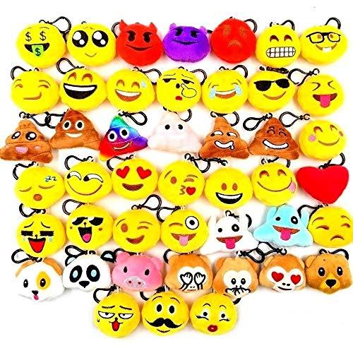 JZK 45 Piccoli giocattoli peluche 5CM mini emoji portachiavi emoticon whatsapp regalo Natale pensierino compleanno bomboniera festa bambini adult