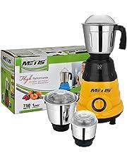 Metis 750-Watt MES-179 Mixer Grinder with 3 Jars, (Multicolor)