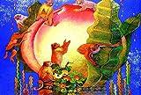 MTAMMD Puzzles Zodiaco Scimmia E Pesca Il Puzzle in Legno 500 1000 Pezzi Ersion Puzzle Giocattoli Educativi per Bambini Adulti-1000Pieces