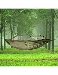 topfire portable haute résistance parachute Hamac avec Moustiquaire en tissu pour camping voyage tactique