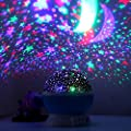 Skybaba Kids Night Light Stars Night Light Projector, 360 Degree Moon Star Projection Starry Sky Projector, Rotation Night Projection Lamp Kids Bedroom Bed Lamp Moon Star lighting Lamp for Christmas Children-Blue Rotating