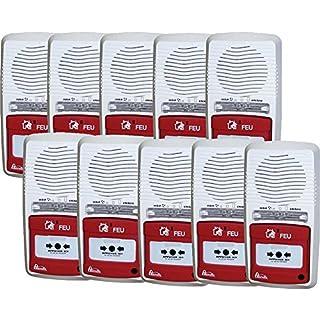 Packung mit 10 Alarmen Typ 4 mit Blitzlicht