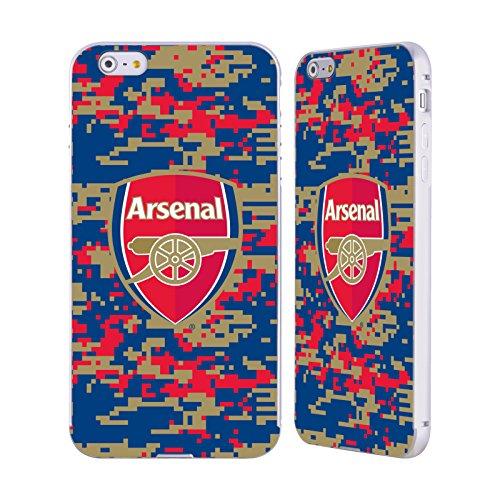 Ufficiale Arsenal FC Marmoreo 2017/18 Modelli Crest Argento Cover Contorno con Bumper in Alluminio per Apple iPhone 5 / 5s / SE Mimetizzazione Digitale