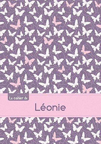 Le cahier de Léonie - Séyès, 96p, A5 - Papillons Mauve
