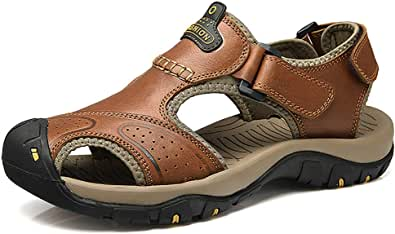 Sports Outdoor Sandals Summer Men's Beach Scarpe in Pelle Casual Traspirante Antiscivolo Escursionismo A Piedi Athletic