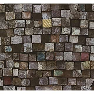 Dutch Wallcoverings 42101-10 Logs Wallpaper - Brown/Purple