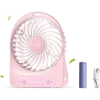 Mini USB Ventilator Yoobao Desktop Lüfter Kühlung Tragbarer Lüfter Klein  Tisch Ventilator Mit 3 Geschwindigkeit, 3300 MAh Aufladbarer Batterie Akku,  ...